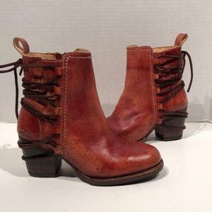 Bed Stu Blayre Adobe Driftwood Leather Heel Boot